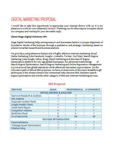 digital marketing proposal example