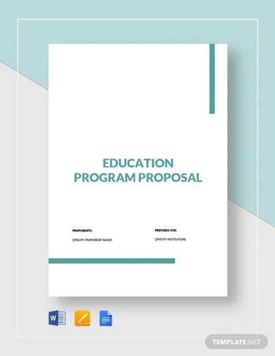 education program proposal template