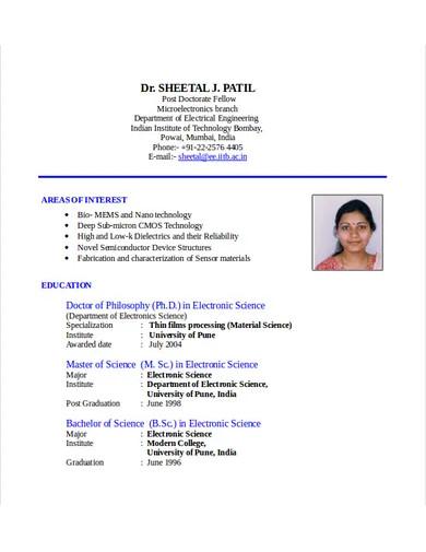 electrical engineering resume