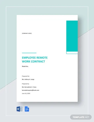 employee remote work contract template
