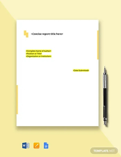 equity research report template