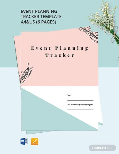 event planning tracker template