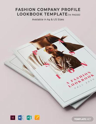 fashion company profile lookbook template