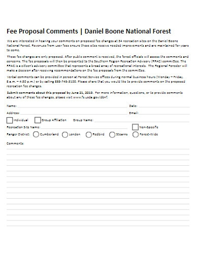 fee proposal example