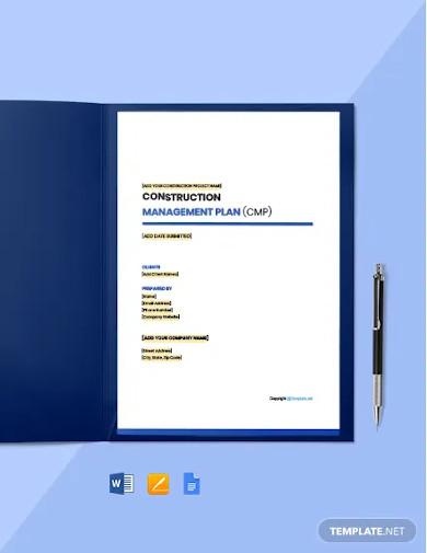 free basic construction management template