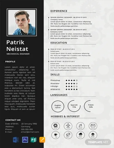 free mechanical engineer resume template