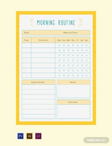 free morning routine planner template