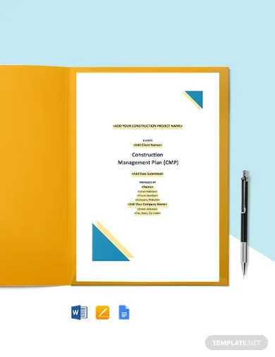 free printable construction management template