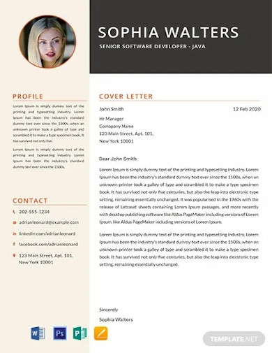 free senior java developer resume template