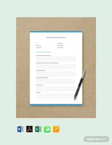 free standard operating procedure template