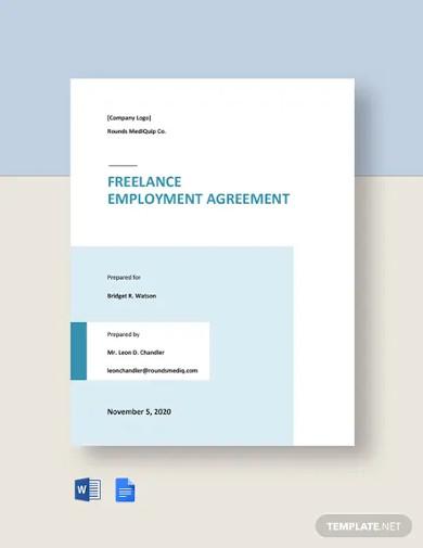 freelance employment agreement templates