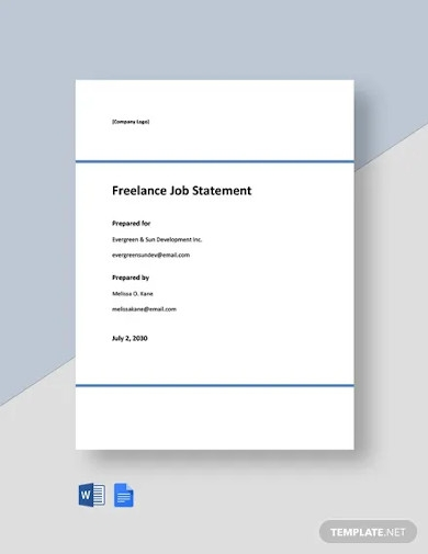 freelance job statement template