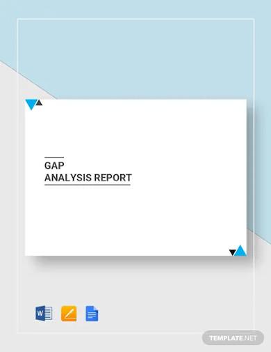 gap analysis report template