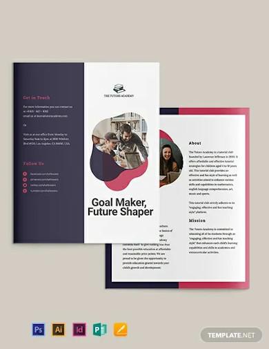 gate fold brochure template