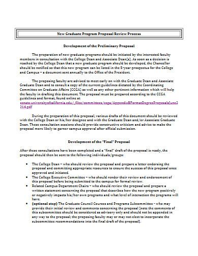graduate program proposal