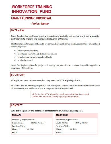 grant funding proposal
