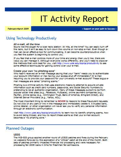 it activity report