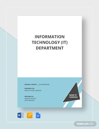 it report template