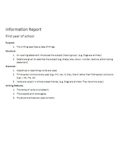 information report in pdf