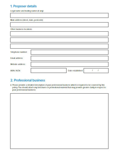 information technology package proposal form