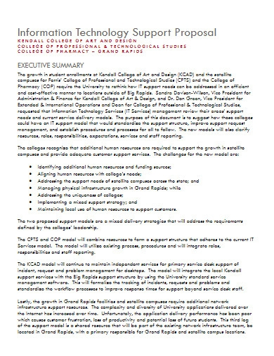 information technology support proposal