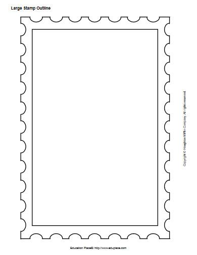 large stamp outline