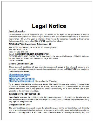 legal notice in pdf