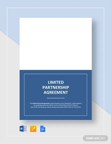 limited partnership agreement templates