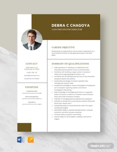 loss prevention director resume template