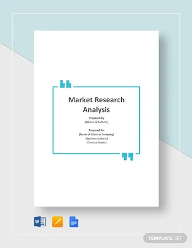 market research analysis template
