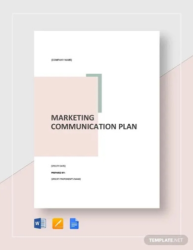 marketing communication plan template