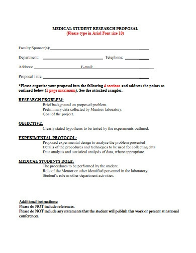medical student research proposal