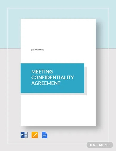 meeting confidentiality agreement template