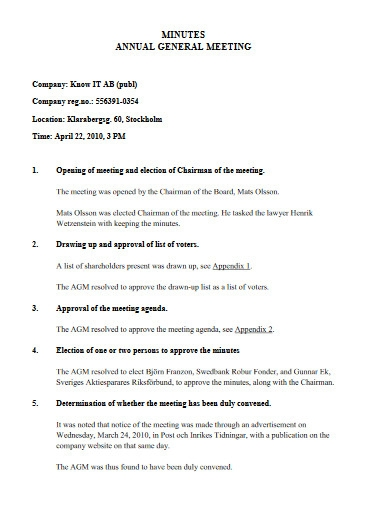 minutes of annual general meeting in pdf