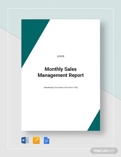 monthly sales management report templates