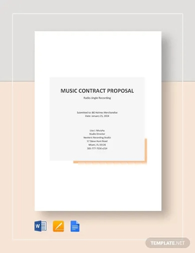 music contract proposal template