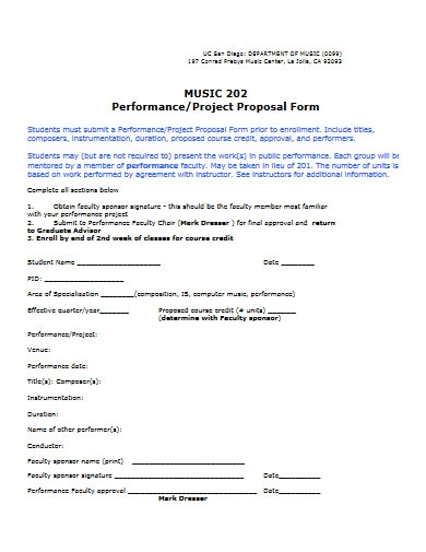 music project proposal