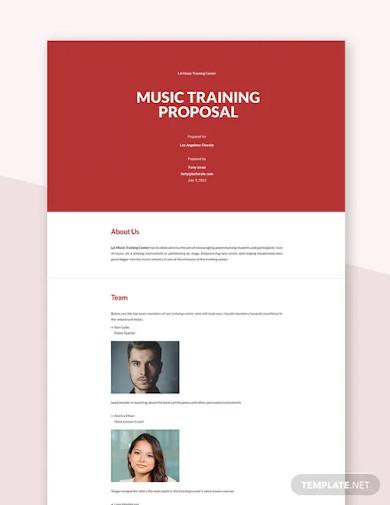 music training proposal template