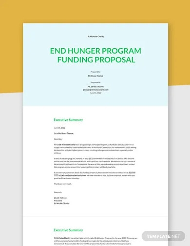non profit funding proposal template