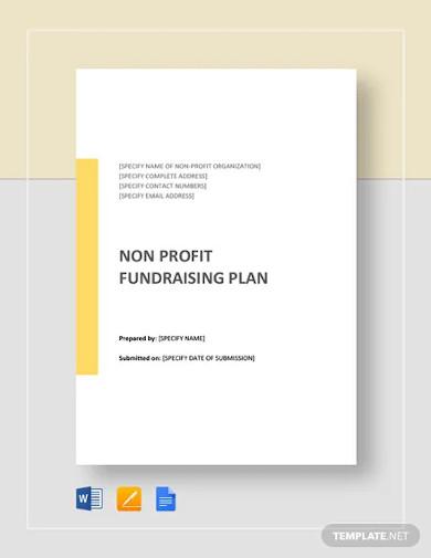 non profit fundraising plan template