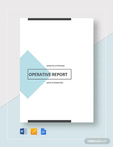 operative report template