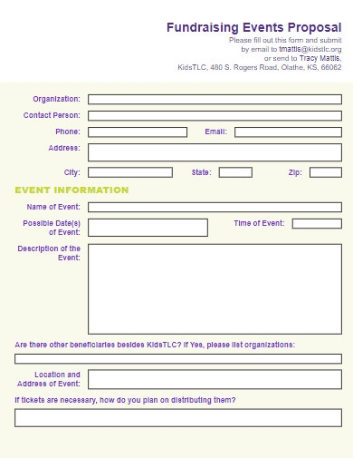 organization fundraising events proposal