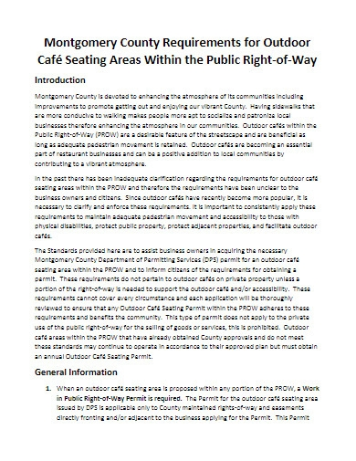 outdoor cafe business plan