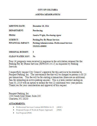 parking fee proposal