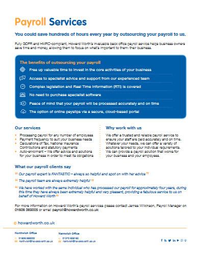 payroll service template