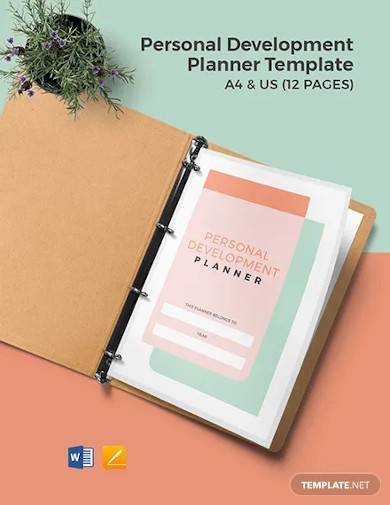 personal development planner template