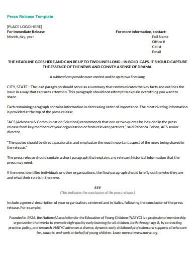 press release in pdf
