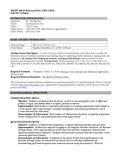 printable business policy template