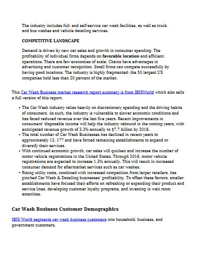 printable car wash business