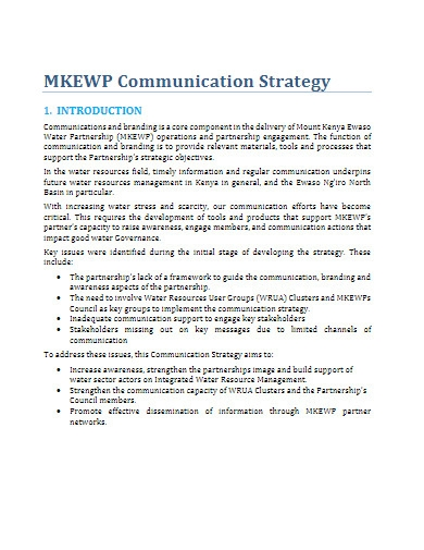 printable communications strategy